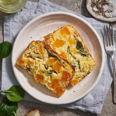 Breakfast Pumpkin & Spinach Frittata