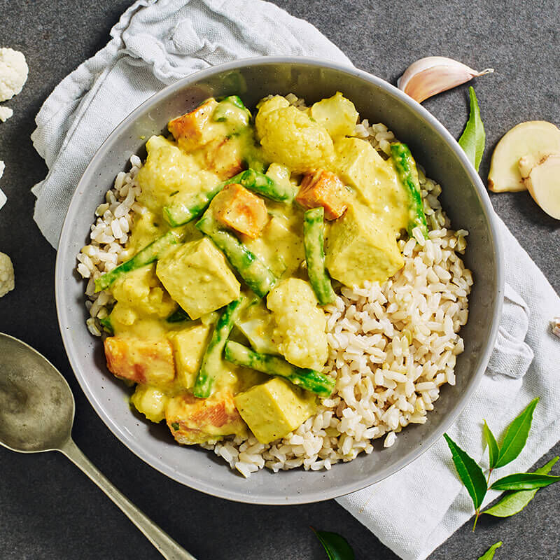 Thai Yellow Curry with Tofu & Brown Rice