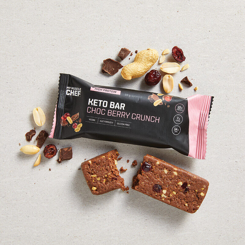 Keto Bar: Choc Berry Crunch image number null