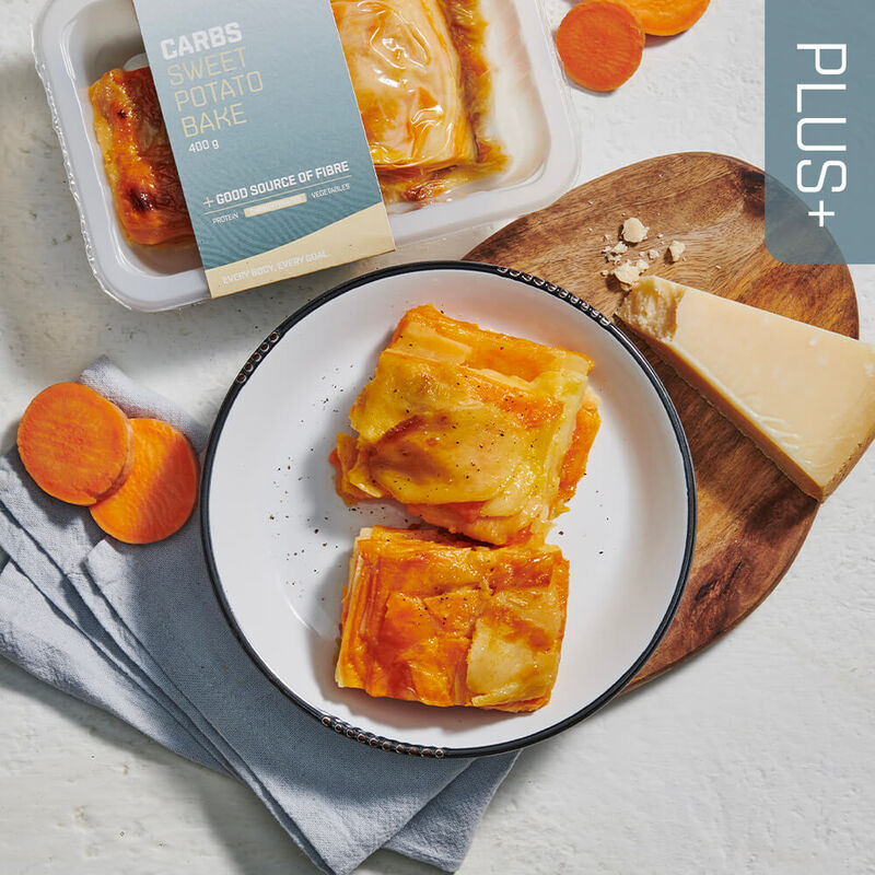 PLUS + | CARBOHYDRATES Sweet Potato Bake image number null