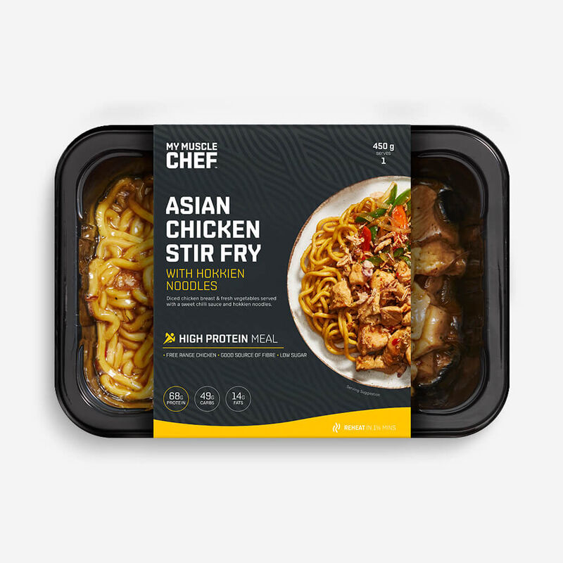 Asian Chicken Stir Fry with Hokkien Noodles image number null