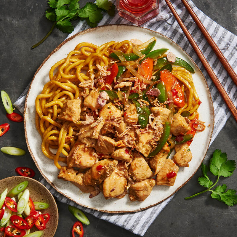 Asian Chicken Stir Fry with Hokkien Noodles