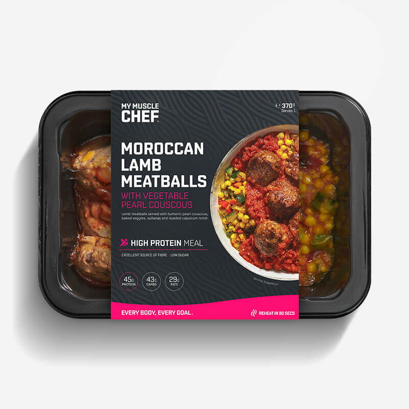 Moroccan Lamb Meatballs with Vegetable Pearl Couscous image number null