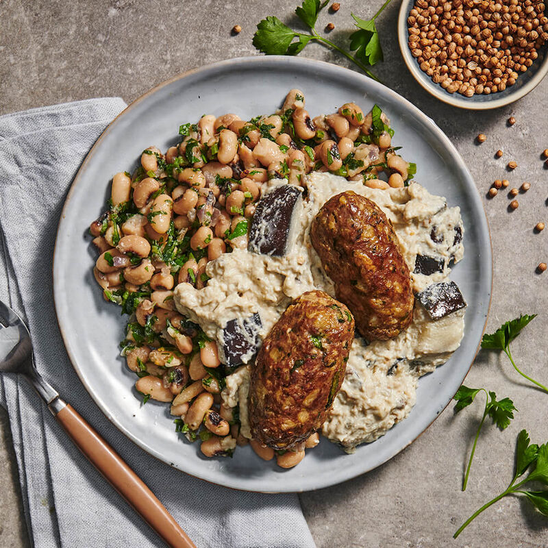 Lebanese Spiced Lamb with Baba Ghanoush image number null