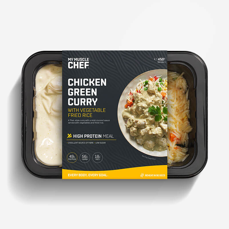 Chicken Green Curry with Vegetable Fried Rice image number null