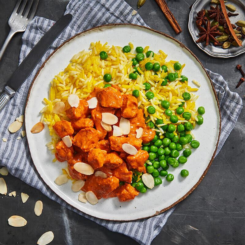 Butter Chicken With Saffron Pilaf image number null