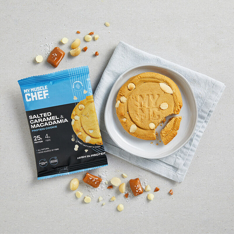 Protein Cookie: Salted Caramel and Macadamia