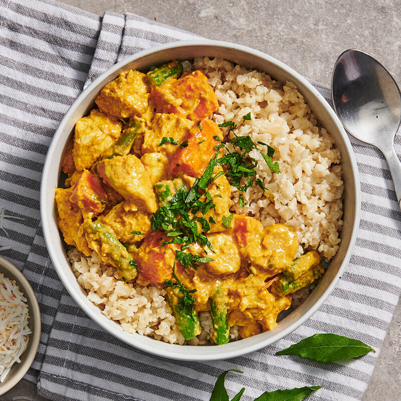 Sri Lankan Chicken Curry with Cauliflower Rice image number null