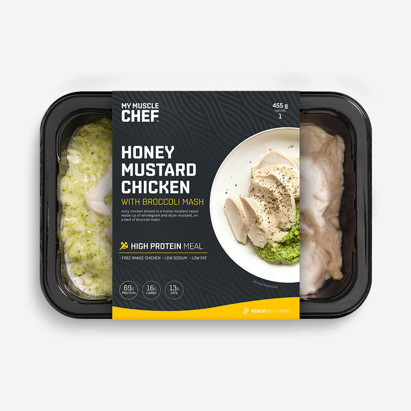 Honey Mustard Chicken with Broccoli Mash image number null