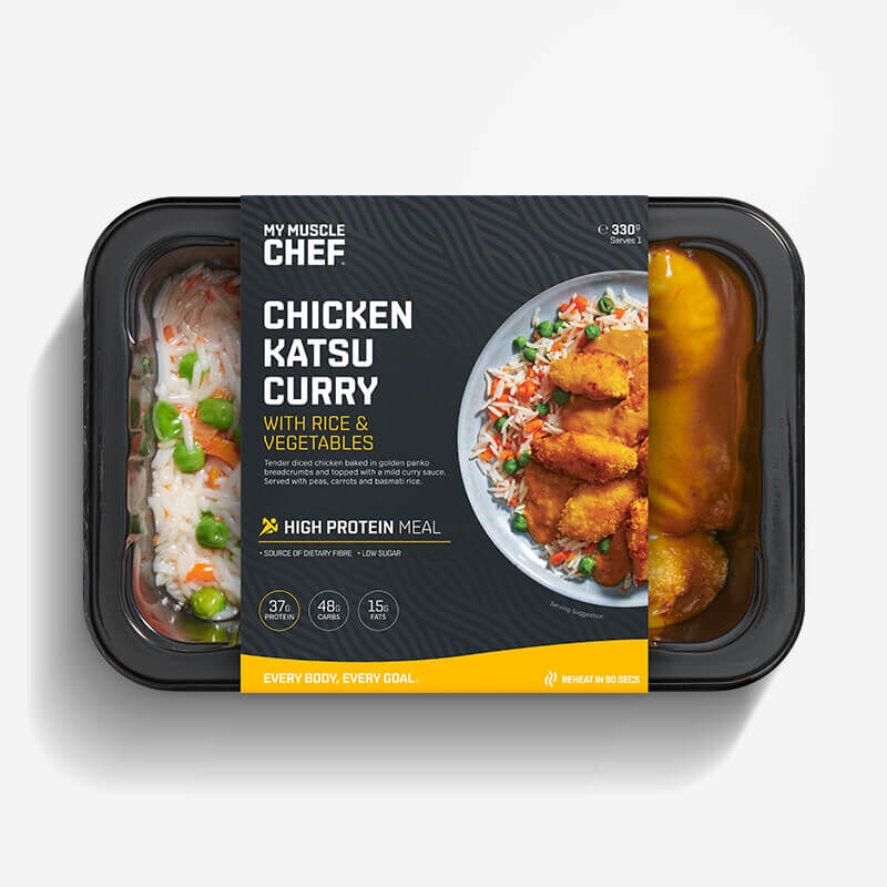 Chicken Katsu Curry with Rice & Vegetables image number null
