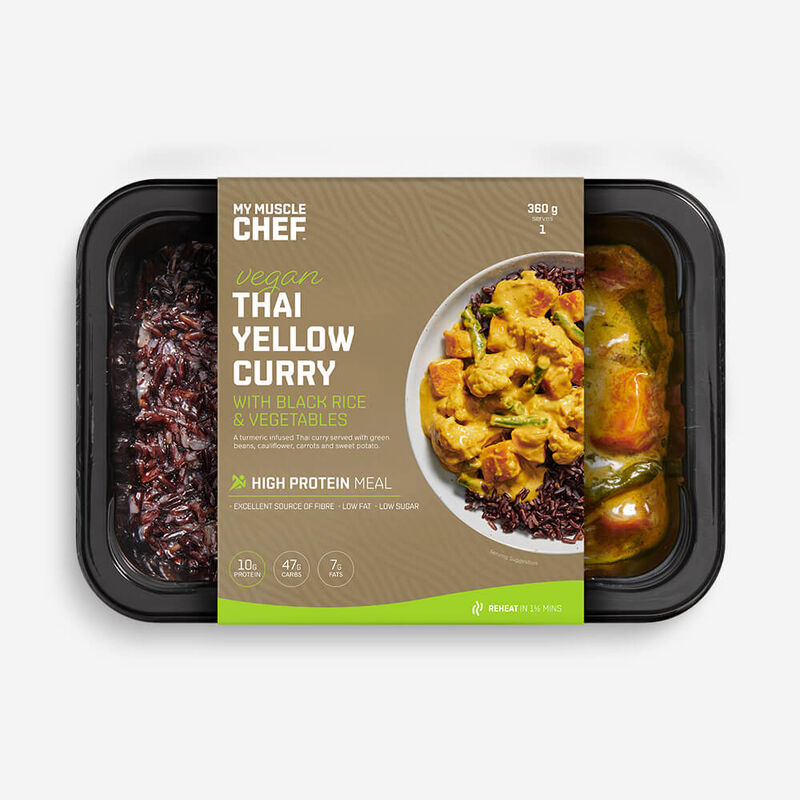 Thai Yellow Curry with Black Rice and Vegetables image number null