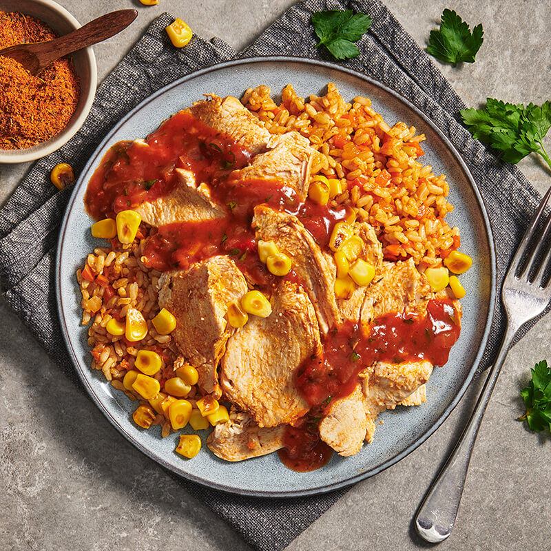 Cajun Chicken with Dirty Rice image number null