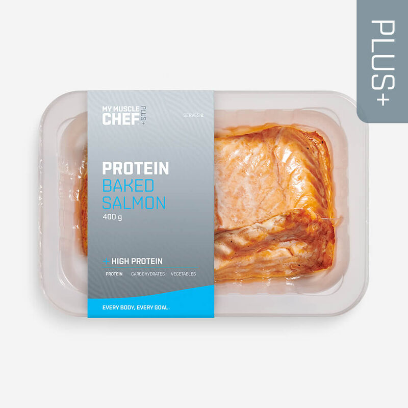 PLUS +   PROTEIN Baked Salmon image number null