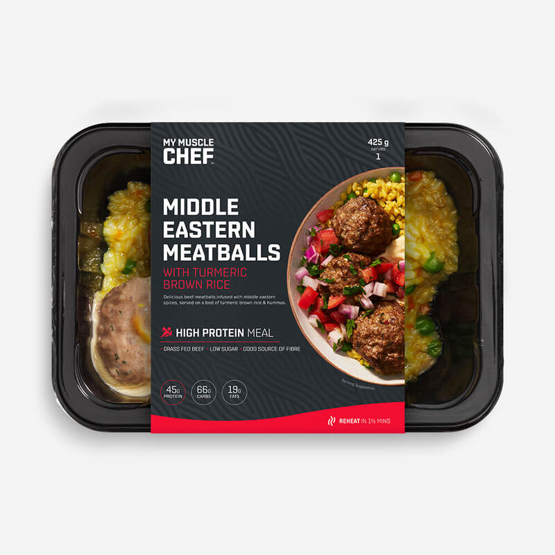 Middle Eastern Meatballs with Turmeric Brown Rice image number null