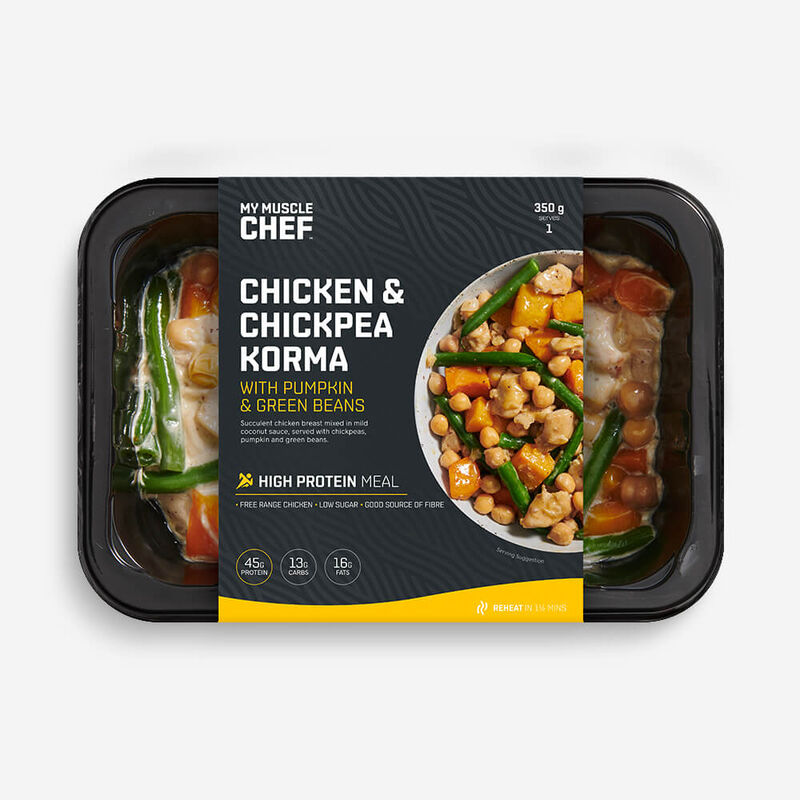 Chicken & Chickpea Korma with Pumpkin & Green Beans image number null