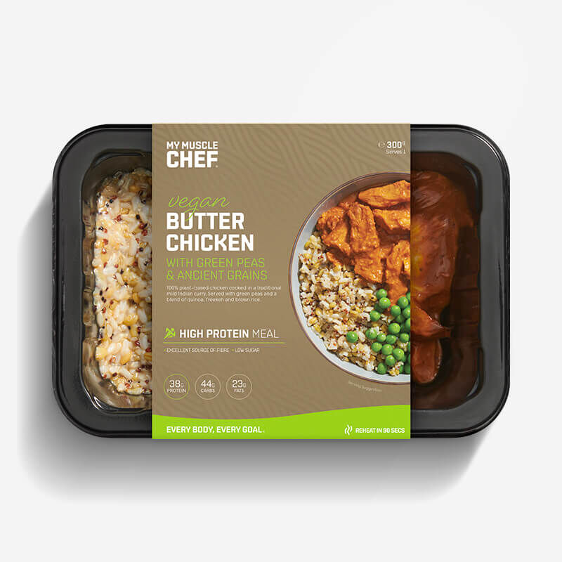 Vegan Butter Chicken with Green Peas & Ancient Grains image number null
