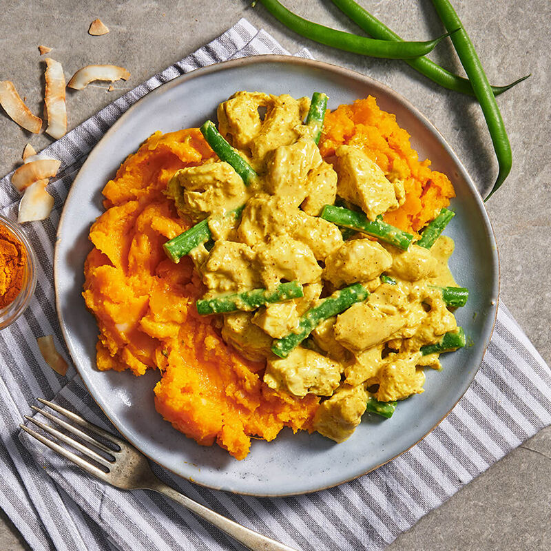 Coconut Turmeric Chicken with Pumpkin Mash image number null