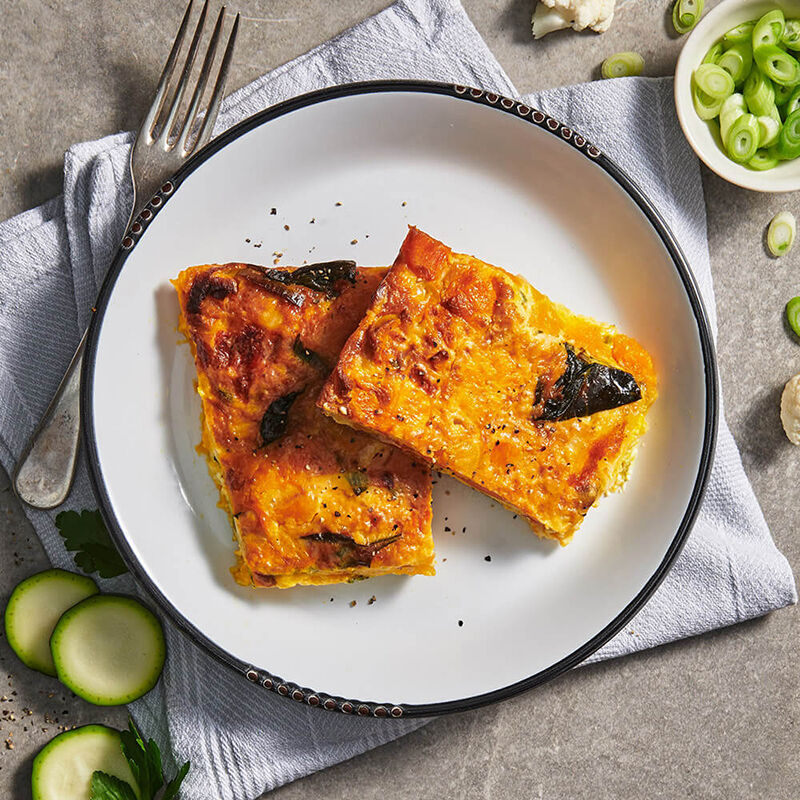 Breakfast Spicy Vegetable Frittata with Fetta image number null