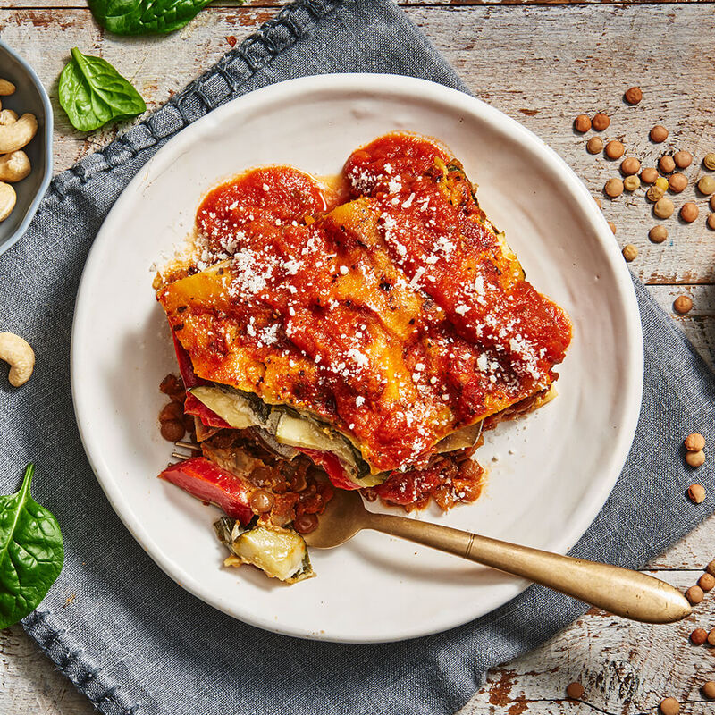 Vegan Roasted Vegetable Lasagne image number null