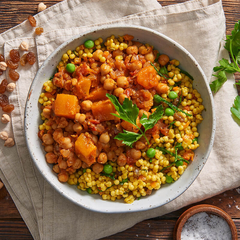 Moroccan Chickpea Tagine with Pumpkin and Cous Cous