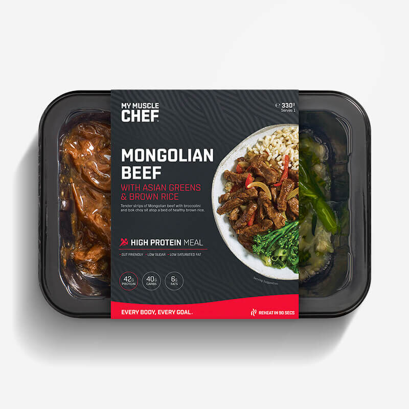 Mongolian Beef with Asian Greens & Brown Rice image number null