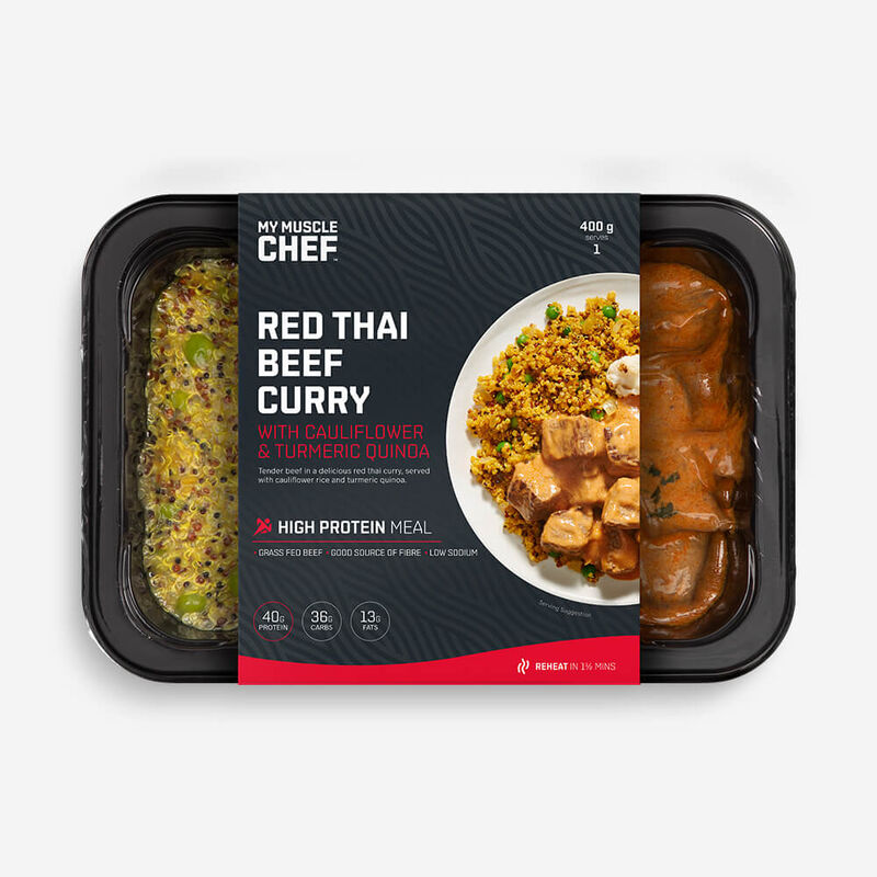 Red Thai Curry Beef with Cauliflower & Turmeric Quinoa image number null