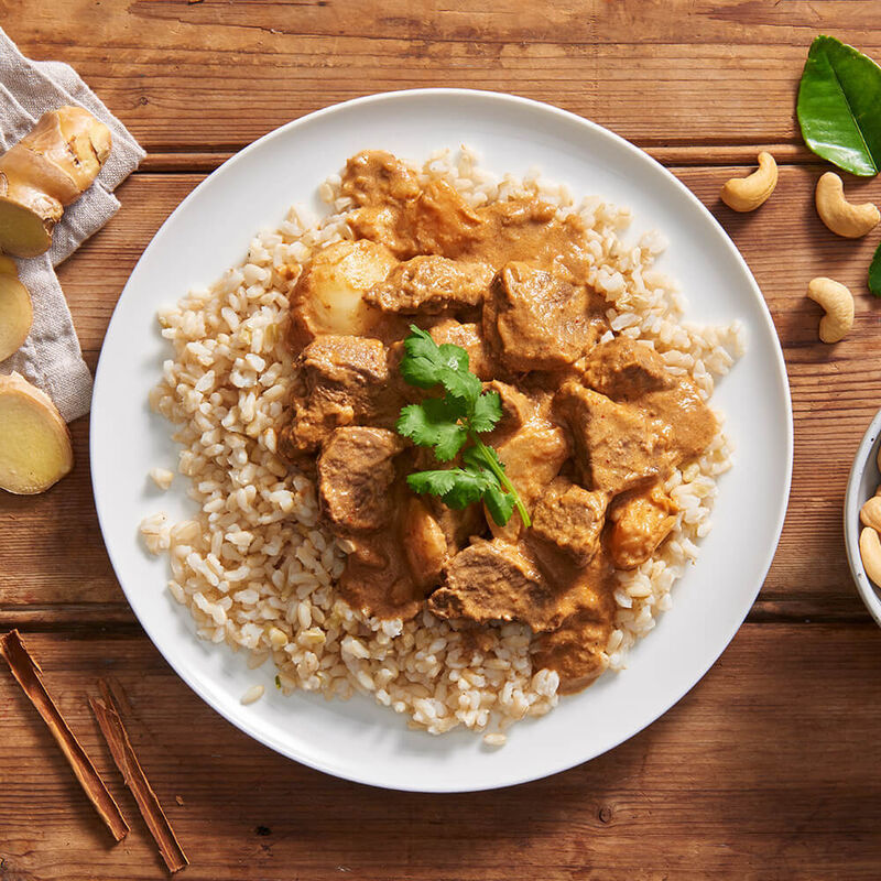 Beef Massaman Curry with Brown Rice