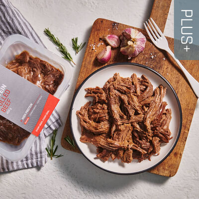 PLUS + | PROTEIN Pulled Beef