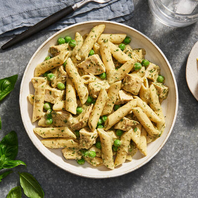 Chicken and Green Vegetable Pesto Pasta