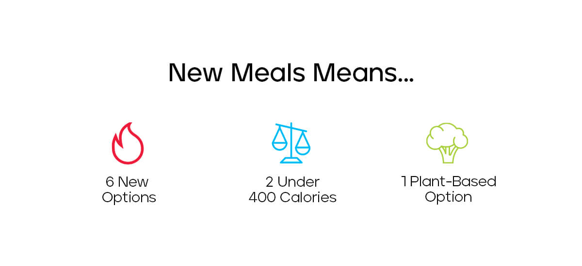 New Meals Mean...